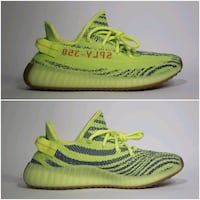 pair of green Adidas Yeezy Boost 350 V2 Toronto, M2K 3C1