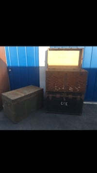 3 antique chest /trunks Santa Ana, 92703