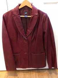 Red leather jacket / coat Lake in the Hills, 60156