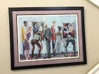 """Seriolithograph """"Spectators at the Tarkay Exhibit"""" Marcus Glenn LIMITED Royal Palm Beach, 33411"""