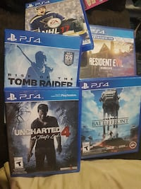 PS4 games perfect condition