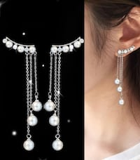 New with tags pearl and cubic zirconia earring Camarillo, 93012