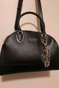 BLACK LEATHER GUESS PURSE