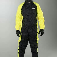 *WITH FLAWS* NEW ADULT IXS Motorcycle 1 piece Rain Suit LARGE & 4XL