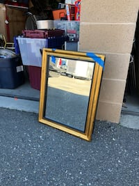 brown wooden framed mirror with cabinet Vacaville, 95687