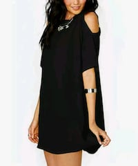 New short sleeve cold shoulder sheer black chiffon Montreal, H8T