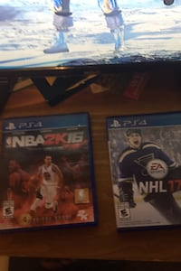 Throwback sports games NHL 17 and NBA 2k16 $25 for the two games  Brampton, L7A 2H4