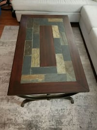 Wood/rock slate top with metal frame coffee table Calgary, T2K
