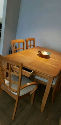 Dining kitchen wood table with hidden drawers Elkridge