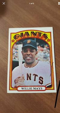 1972 TOPPS WILLIE MAYS West View, 15229