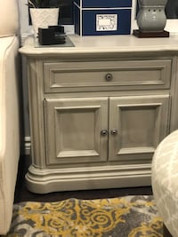 Set of 2 end tables with drawer and cub board space. Wall paper lined. Richmond Hill, L4E 3Z7