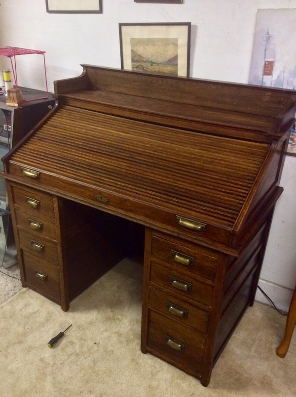 Burns and sons antique roll top desk - Used Burns And Sons Antique Roll Top Desk For Sale In Tucson - Letgo
