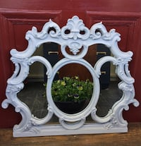 Ornate solid grey mirror Uxbridge, L9P