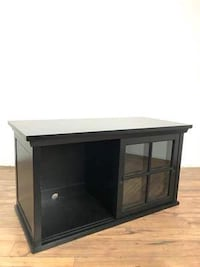 black wooden TV stand with cabinet South San Francisco