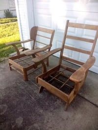 Vintage wooden rocker chair and wooden chair Somerset, 15501