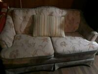 white and brown floral fabric sofa Seale, 36875
