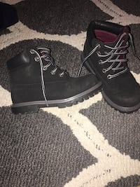 pair of black leather work boots West Des Moines, 50266
