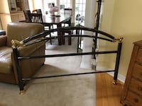 Queen Gunmetal Brass Bed Frame Head board, footboard and side rails  Newmarket, L3X 2H2