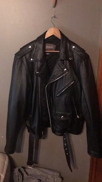 black leather zip-up jacket Rahway, 07065