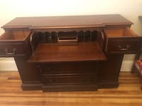 Large Antique wooden secretary table buffet Garfield, 07026