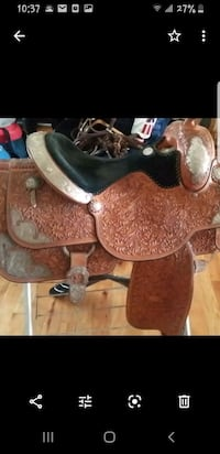 Allen Ranch custom saddle HALETHORPE