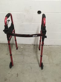"""Drive Medical Deluxe Folding Travel Walker with 5"""" Wheels"""
