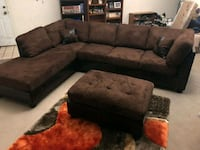 3 Pcs Chocolate Sectional w/ Ottoman•Black Friday SPECIAL price•Delive Las Vegas, 89122