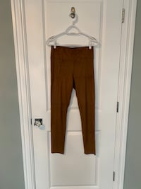 Small Dynamite women's tan faux suede leggings pants
