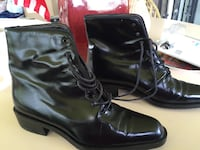 pair of black leather high-top sohes Miami, 33144