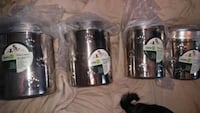 8 piece animal paw print stainless steel canister  Paducah, 42001