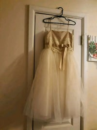 Ivy and champagne flower girl dress. It's a size 4