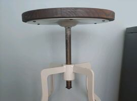 Industrial bar counter stool