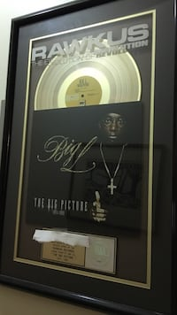Big L - official RIAA - gold award.  VERY RARE! New York, 10024
