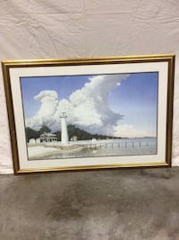 """Biloxi lighthouse in 1901  Numbered print. Professionally framed. 39 1/2""""x27 1/2"""" Gulfport, 39503"""