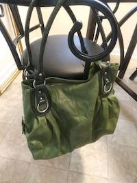 green and brown leather tote bag Lochearn, 21207