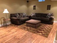 Living room Couch, loveseat, ottoman and carpet ..Great Condition Vaughan, L6A