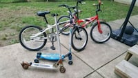 Kids bikes, and scooter's White Oak