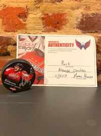 Alex Ovechkin Signed Puck
