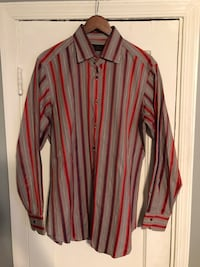 Etro button down strip shirt good condition 46 km