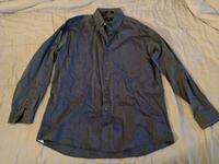 New Gray button-up long sleeve shirt Sz L Lakeland, 33810
