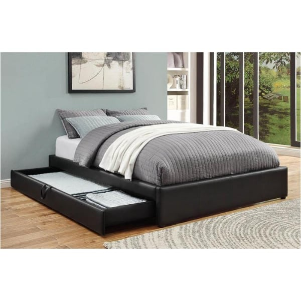 Queen Upholstered Storage Bed In Black DELIVERY FINANCING AVAILABLE