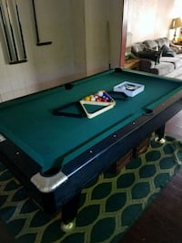 green and brown pool table Mahanoy City, 17948