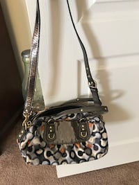 Black and gray monogrammed coach leather hobo bag Woodbridge, 22193