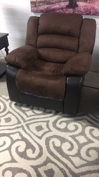 brown and black leather recliner sofa Houston, 77075
