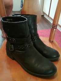 Womens biker boots faded glory size 10 Normal, 61761
