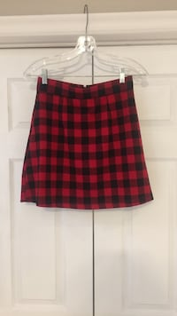 Christmas Gingham Mini Skirt