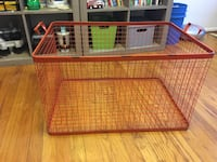 Orange metal crate Royal Oak, 48073