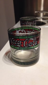 Vintage Stained Glass Coca Cola Glassess Toronto, M4B