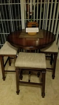 brown wooden dining table set Bristow, 20136