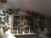 Large hanging vineyard theme tapestry, with vines and two hand made baskets Anchorage, 99503